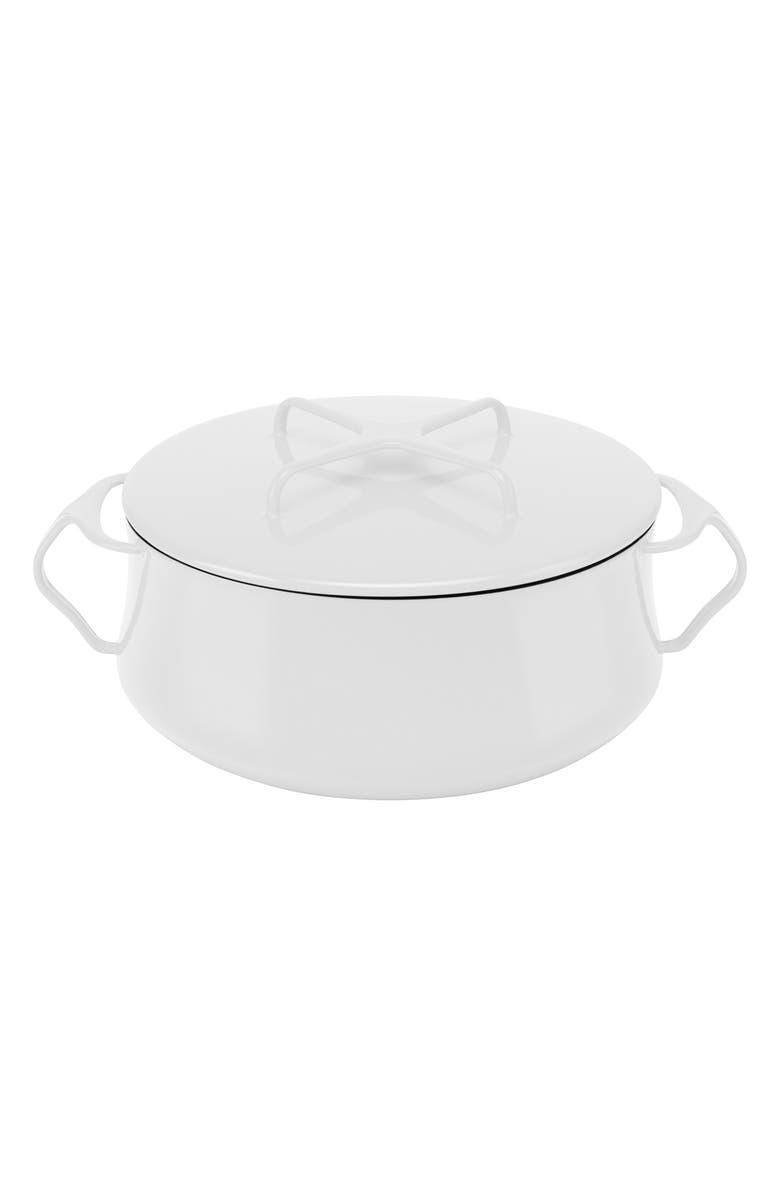 DANSK Kobenstyle 4-Quart Casserole Dish with Lid, Main, color, WHITE