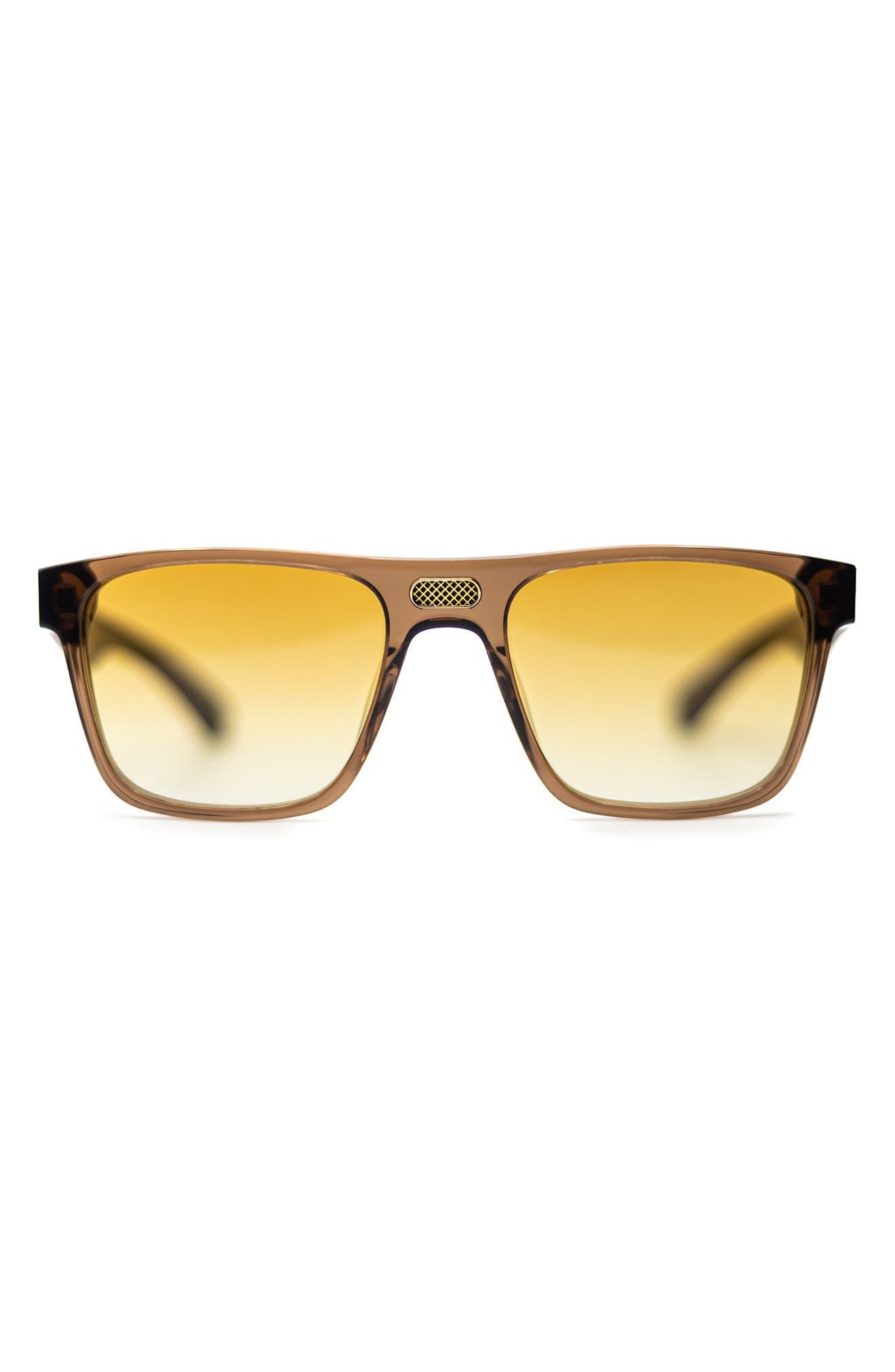 Legend 54mm Gradient Rectangular Blue Light Blocking Sunglasses