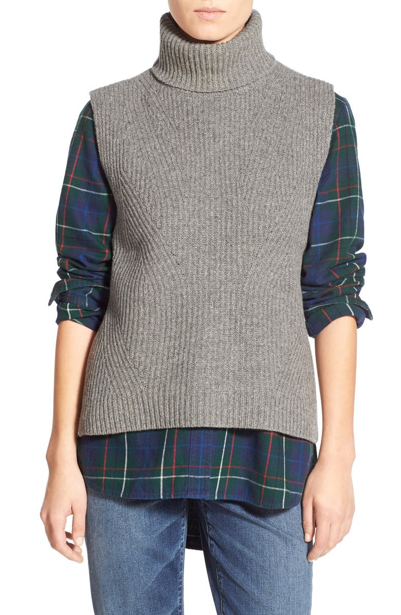 MADEWELL 'Felix' Sleeveless Wool Layering Sweater, Main, color, 020