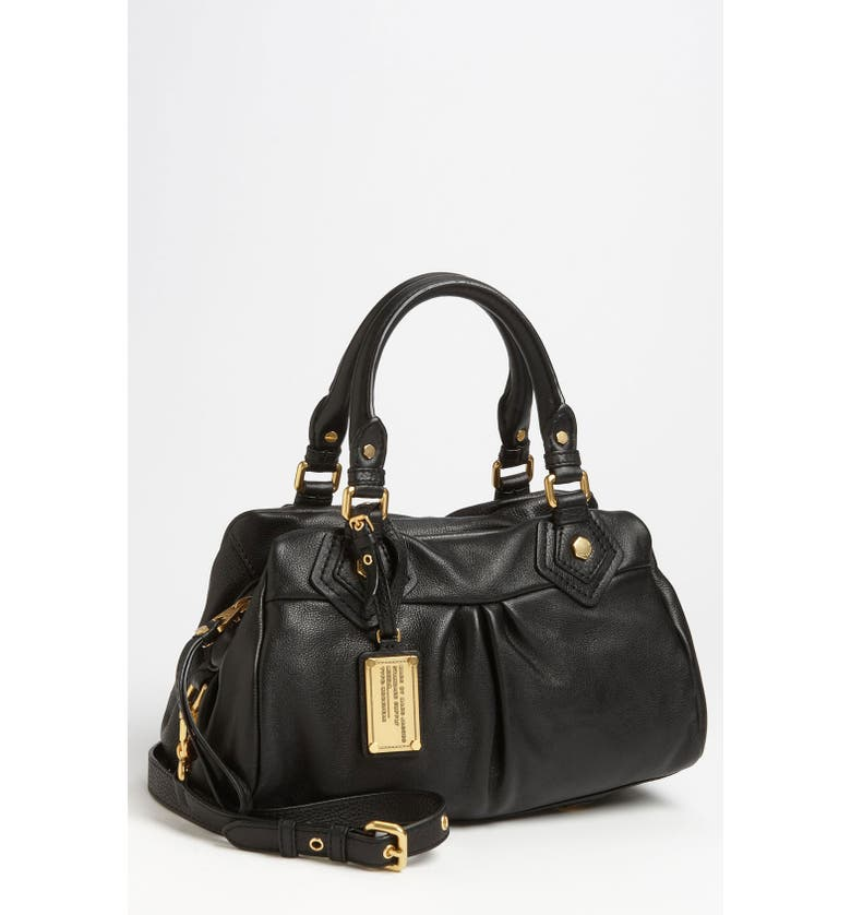 MARC JACOBS MARC BY MARC JACOBS 'Classic Q - Baby Groovee' Leather Satchel, Main, color, 002