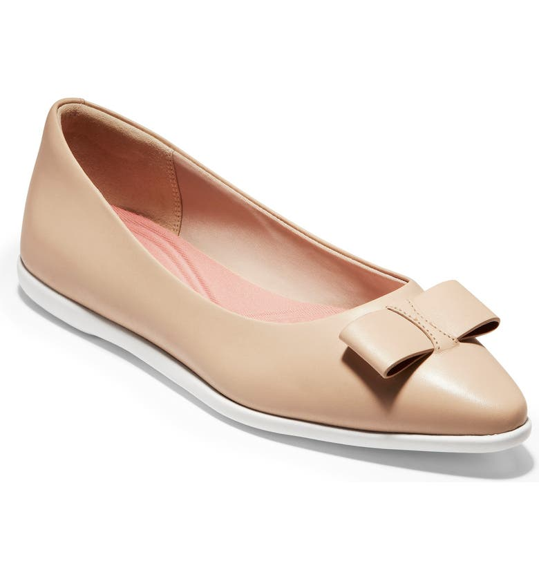 COLE HAAN ZeroGrand Bow Skimmer Flat, Main, color, 250