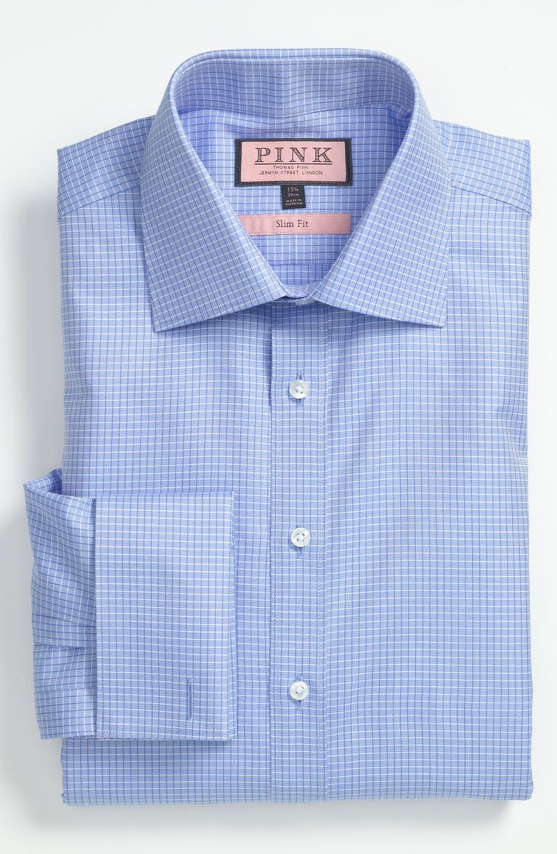 THOMAS PINK Slim Fit Dress Shirt, Main, color, Blue