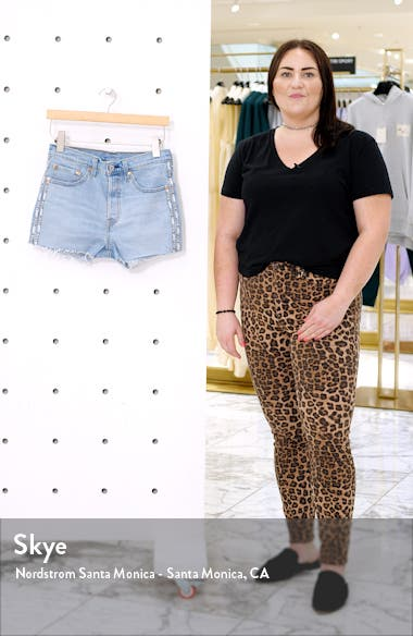 501<sup>®</sup> High Waist Cutoff Denim Shorts, sales video thumbnail