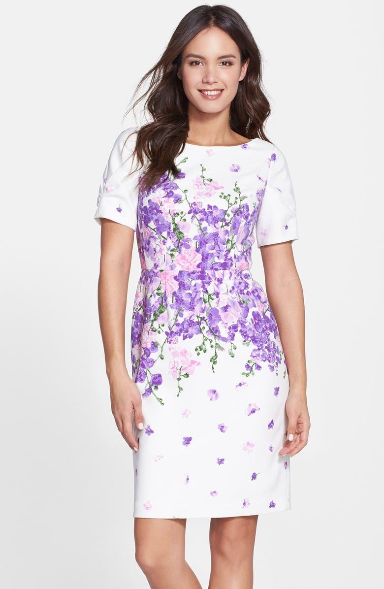 ca3b252d4c2d9 'Garden Party' Floral Print Sheath Dress