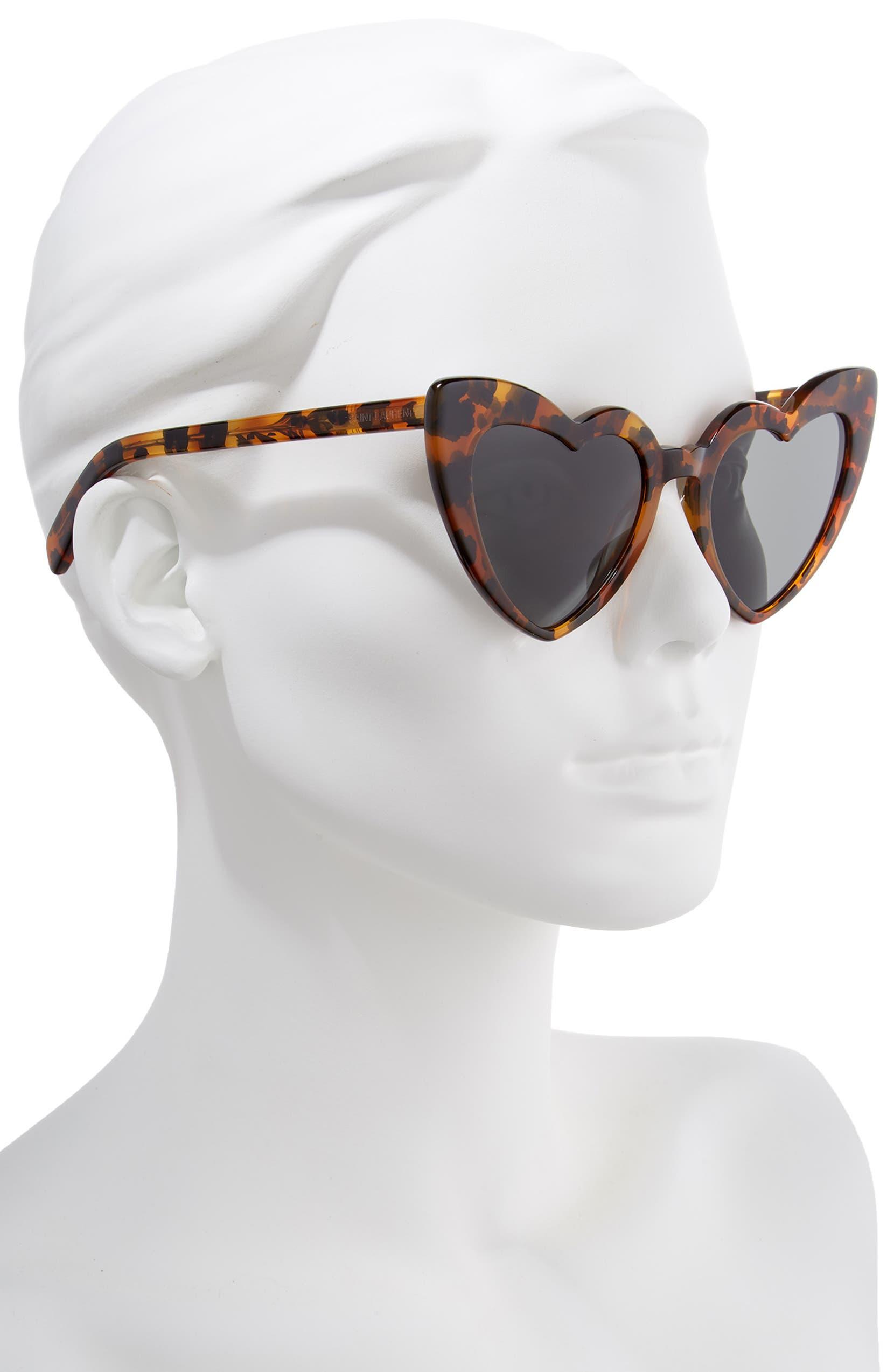 a0b47460b24ed Saint Laurent Loulou 54mm Heart Sunglasses