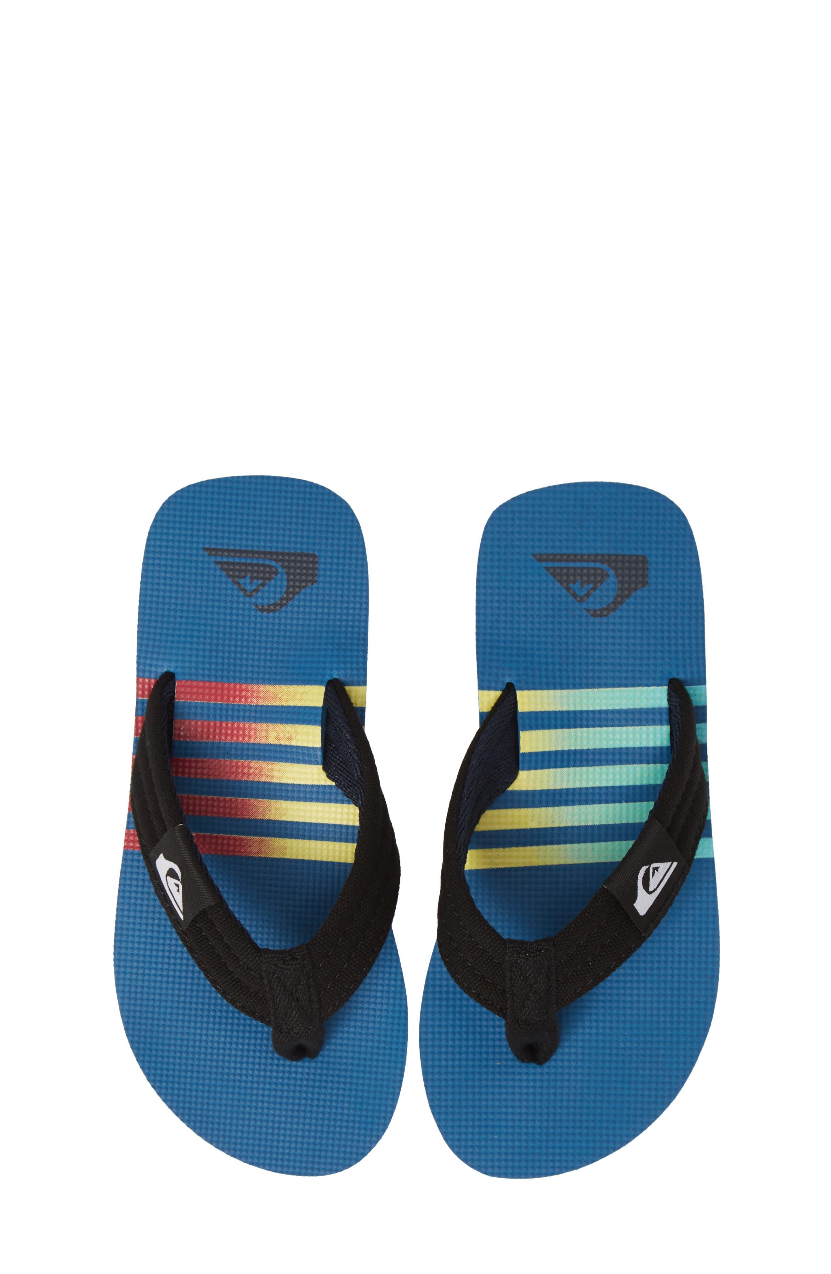 Boys Quiksilver Molokai Layback Flip Flop Size 6 M  Blue
