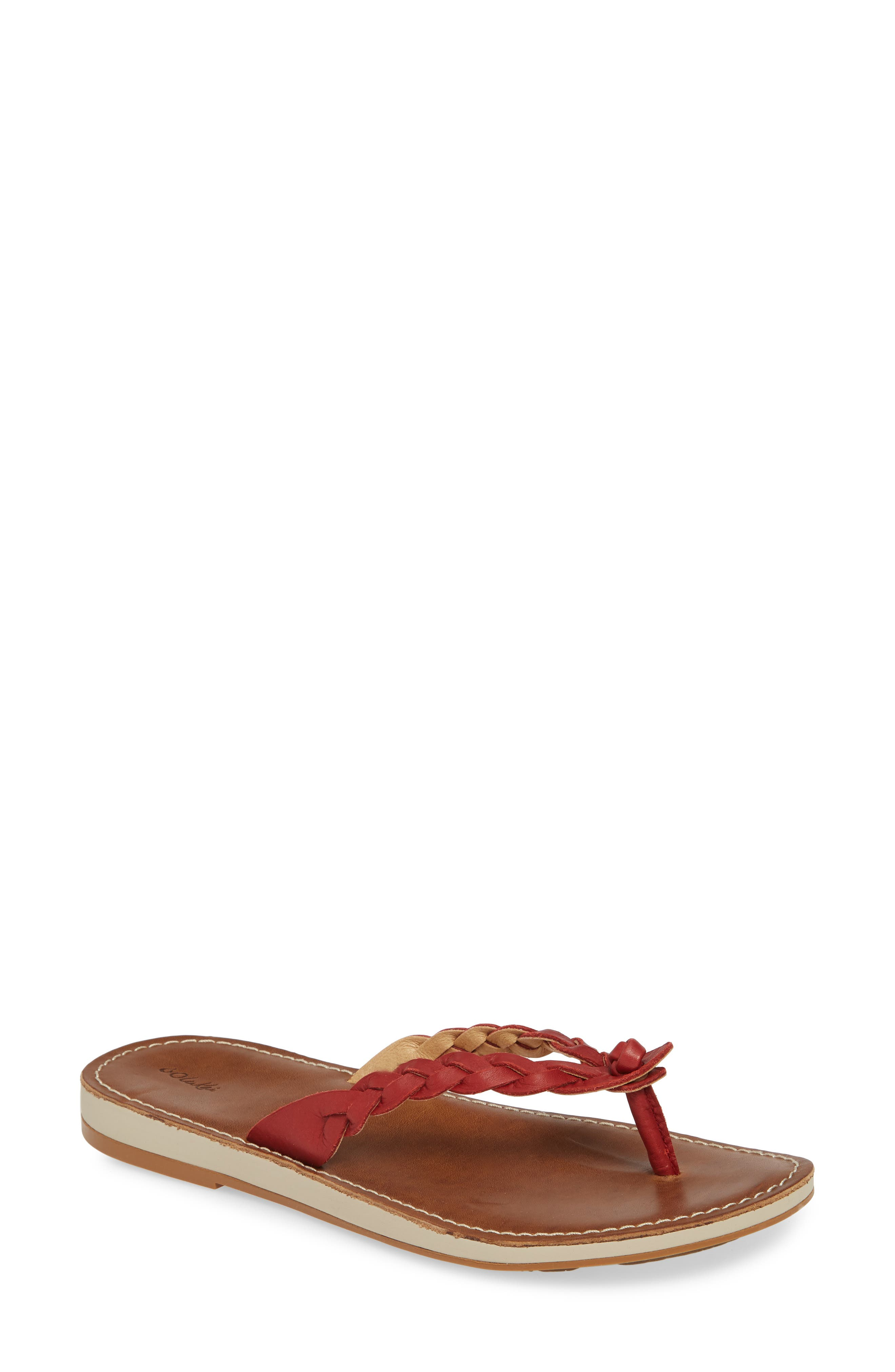 Olukai Kahiko Flip Flop, Red