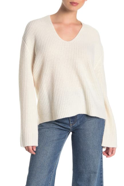 Image of 360 Cashmere Reese V-Neck Cashmere Sweater