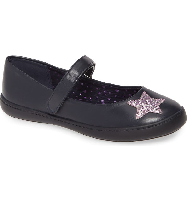 TUCKER + TATE Novelty Star Mary Jane, Main, color, NAVY FAUX LEATHER