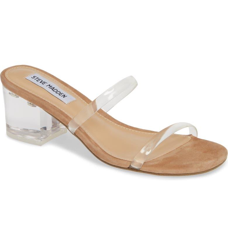 STEVE MADDEN Issy Slide Sandal, Main, color, CLEAR