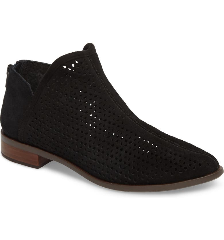 KELSI DAGGER BROOKLYN Alley Perforated Bootie, Main, color, BLACK