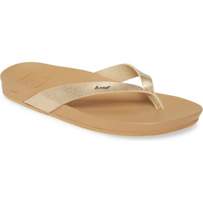 Reef Cushion Bounce Court Flip Flop, Metallic