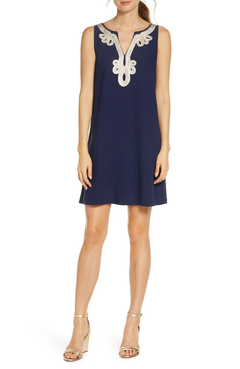 LILLY PULITZER<SUP>®</SUP> Lilly Pultizer<sup>®</sup> Cherlyn Sleeveless Shift Dress, Main, color, TRUE NAVY