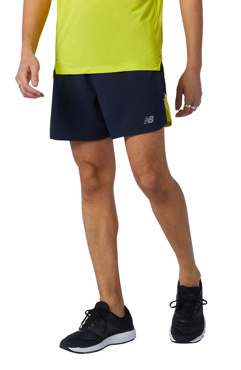 NEW BALANCE Impact Run Performance Shorts, Main, color, YELLOW