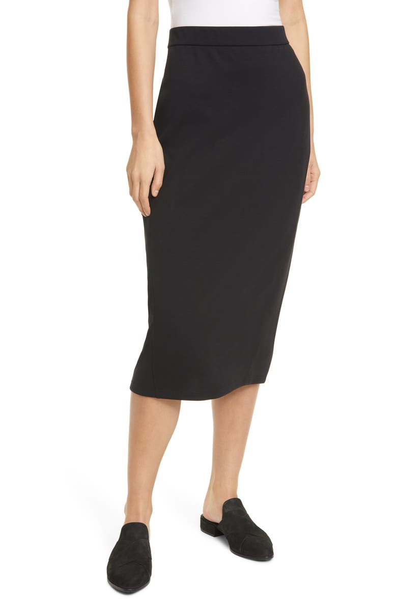 EILEEN FISHER Pencil Skirt, Main, color, 001