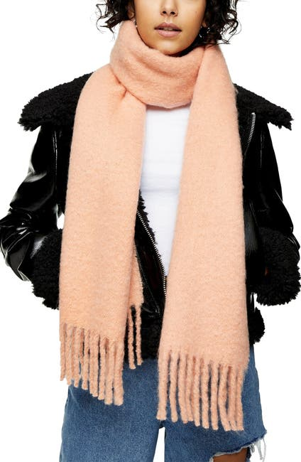 Image of TOPSHOP Brushed Fringe Scarf