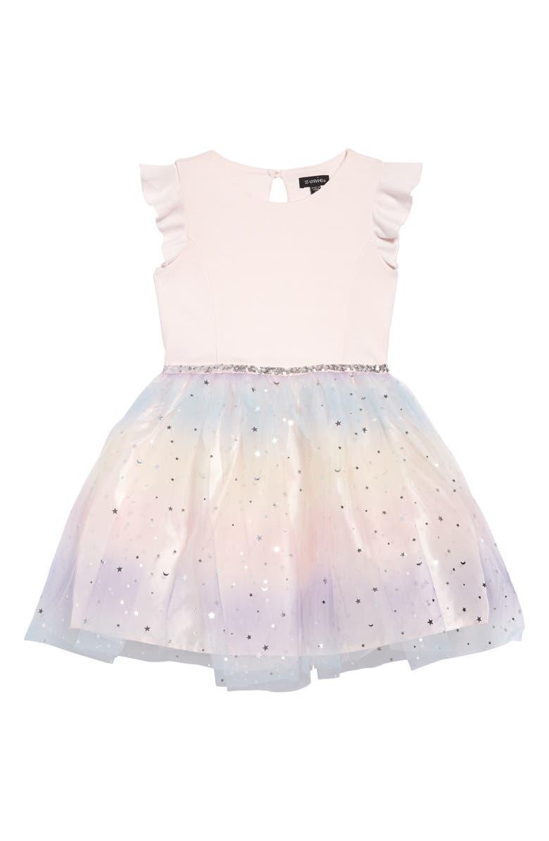 ZUNIE Ponte Tutu Dress, Main, color, 690