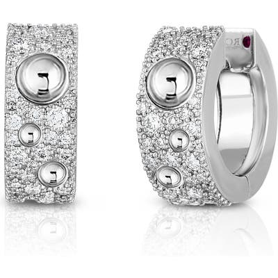 Roberto Coin Pois Moi Luna Pave Diamond Huggie Earrings