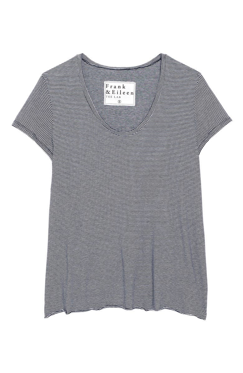 FRANK & EILEEN Essential Stripe T-Shirt, Main, color, 001