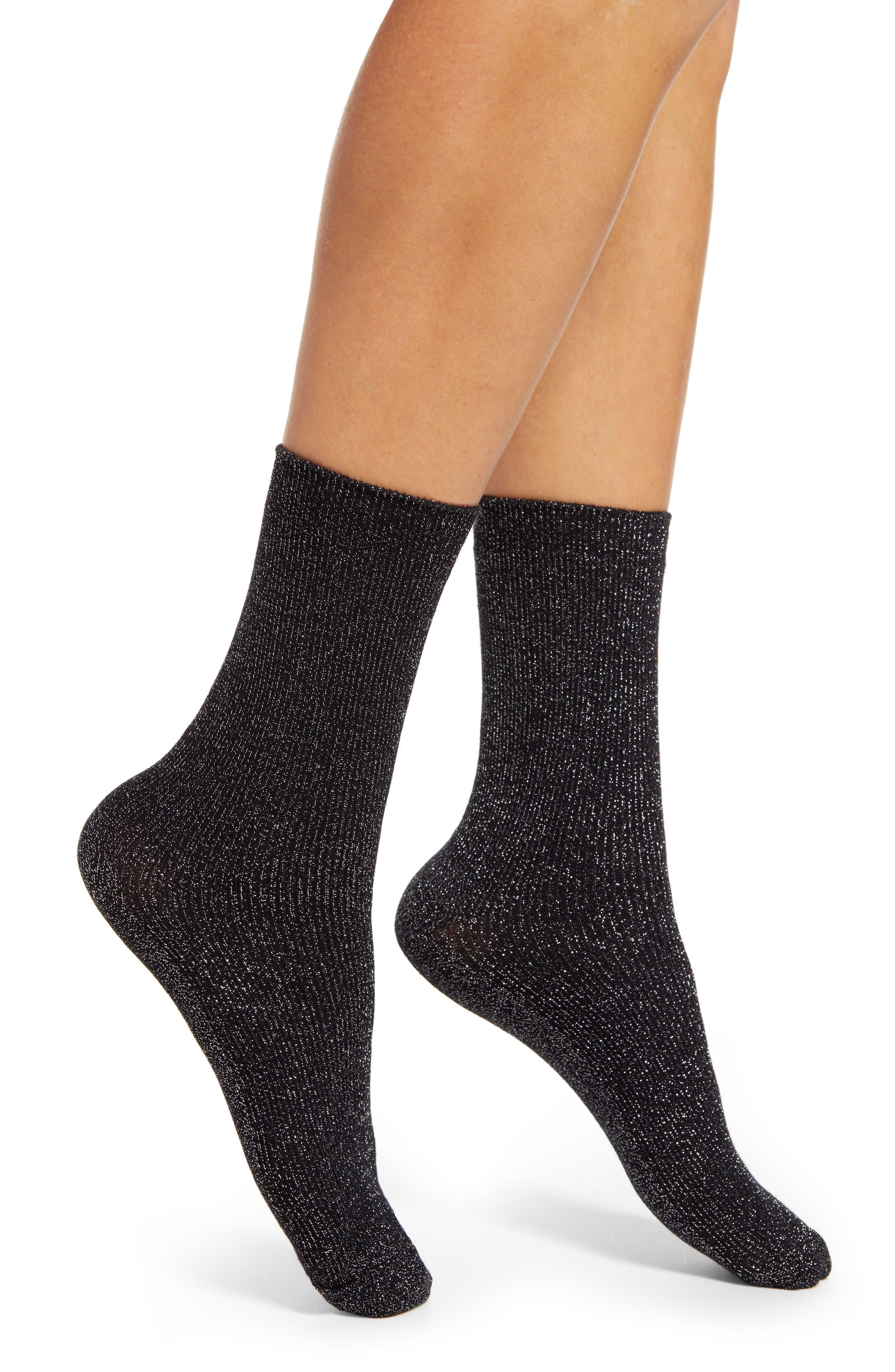 Prima Metallic Crew Socks | Nordstrom