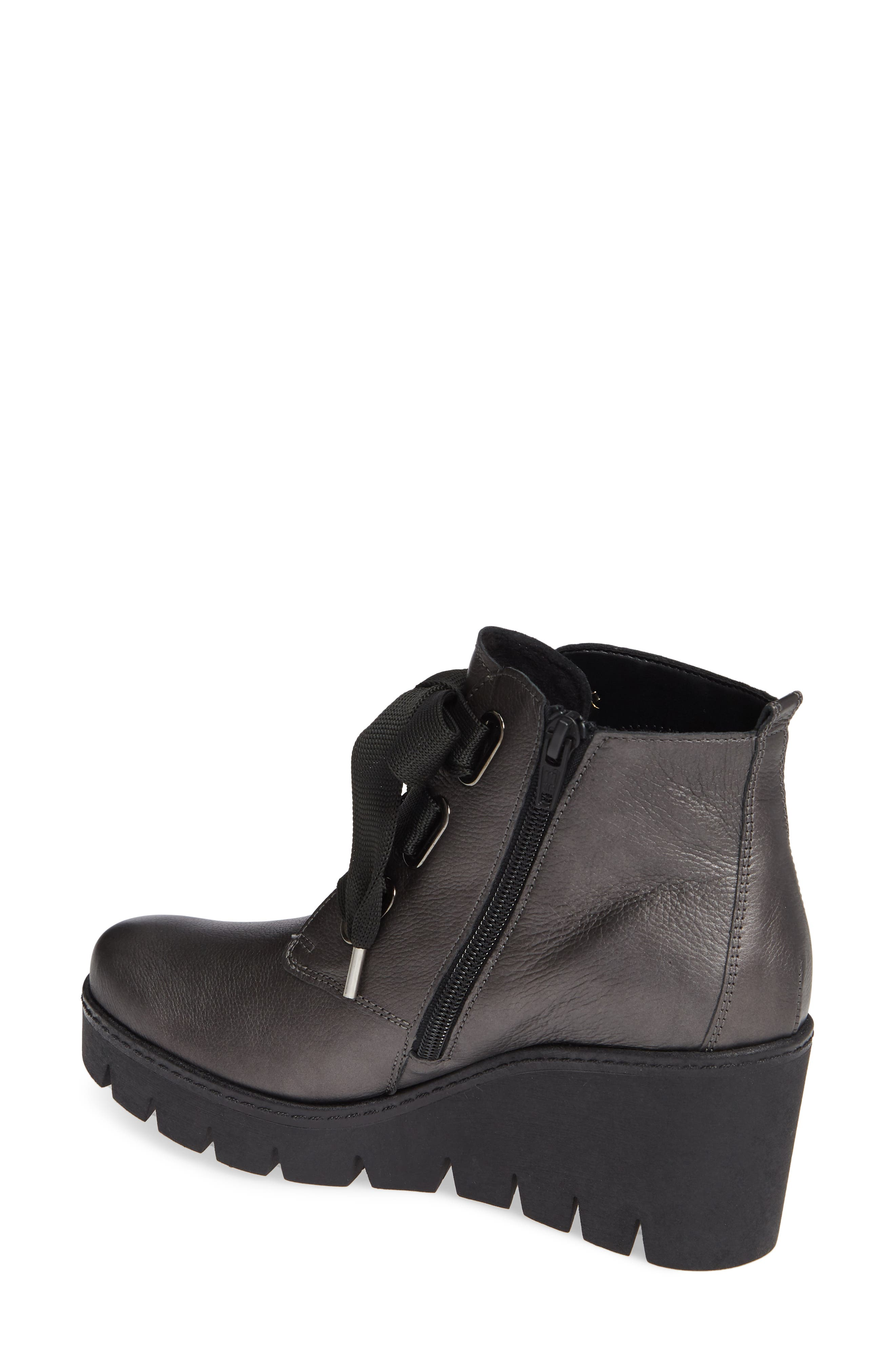 ,                             Friendly Wedge Bootie,                             Alternate thumbnail 2, color,                             GREY LEATHER