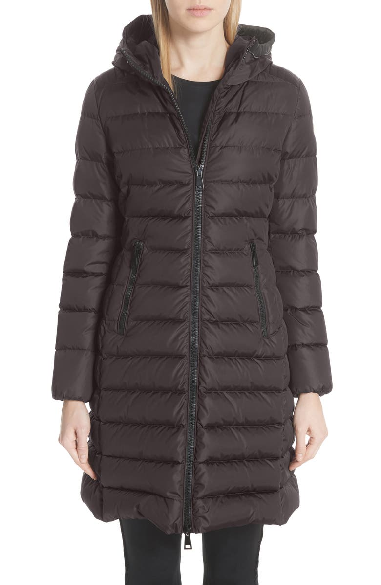 MONCLER Taleve Hooded Quilted Down Coat, Main, color, 021