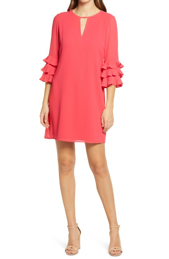 Vince Camuto Dresses PLEATED SLEEVE FLOAT SHIFT DRESS