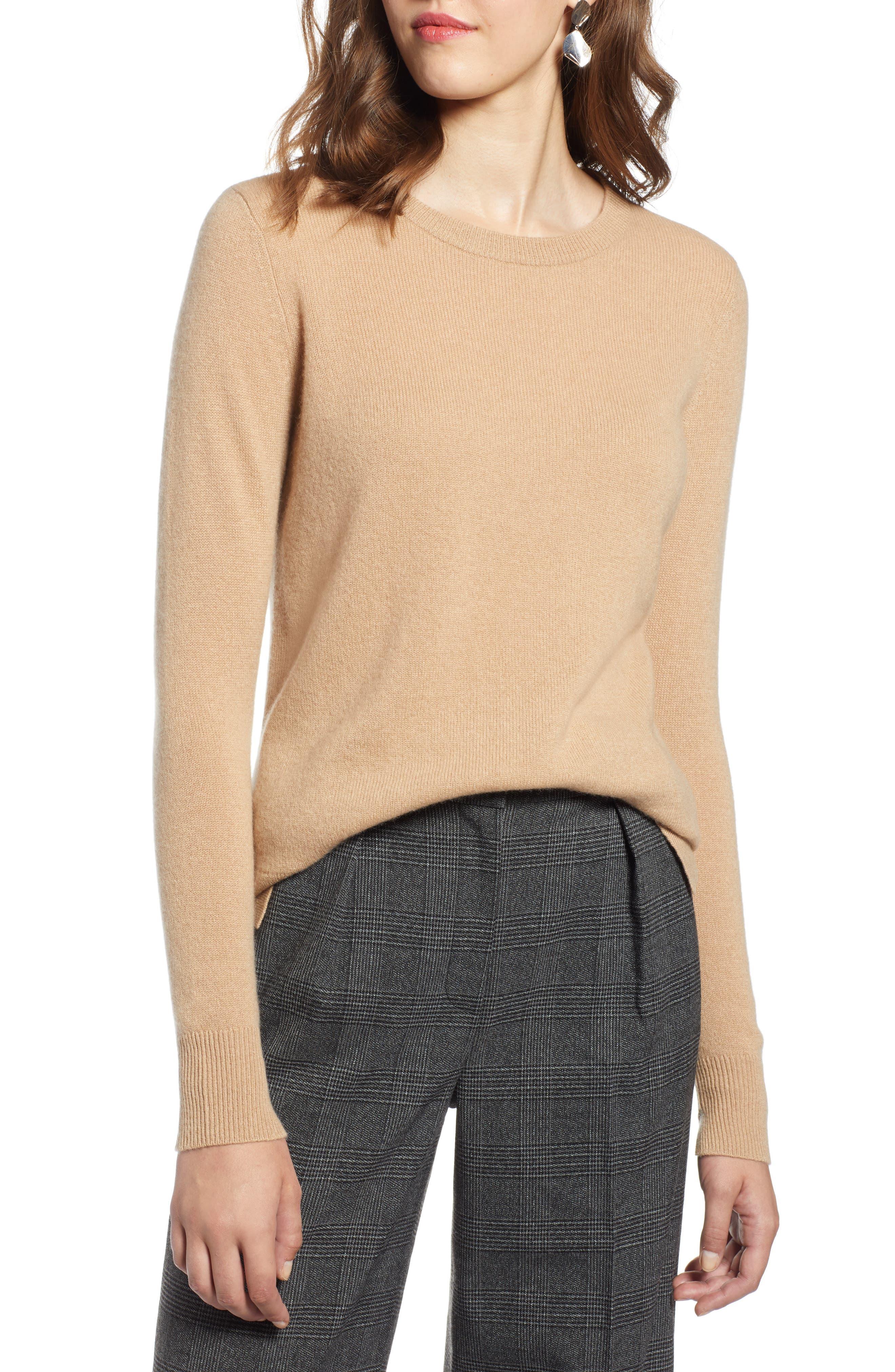 ,                             Crewneck Cashmere Sweater,                             Main thumbnail 62, color,                             230