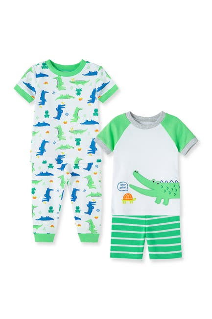 Image of Little Me Alligator 4-Piece Sleepwear Set