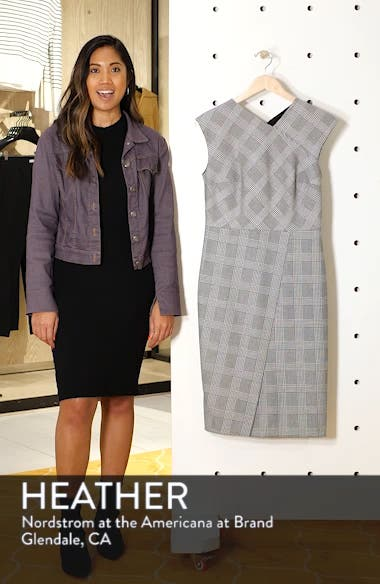 Glen Plaid Sheath Dress, sales video thumbnail