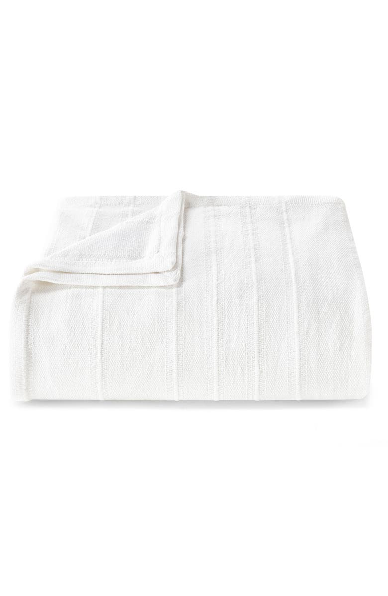VERA WANG Open Stripe Blanket, Main, color, WHITE