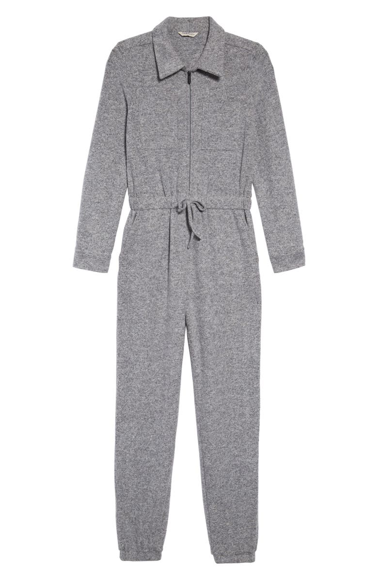 HABITUAL Noah Heathered Long Sleeve Jumpsuit, Main, color, GREY HEATH