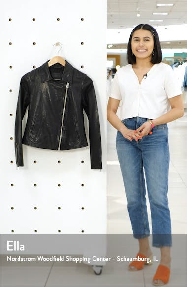 Vela Leather Biker Jacket, sales video thumbnail