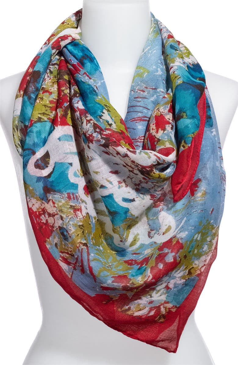 MADE OF ME 'Best Friends' Floral Scarf, Main, color, 300