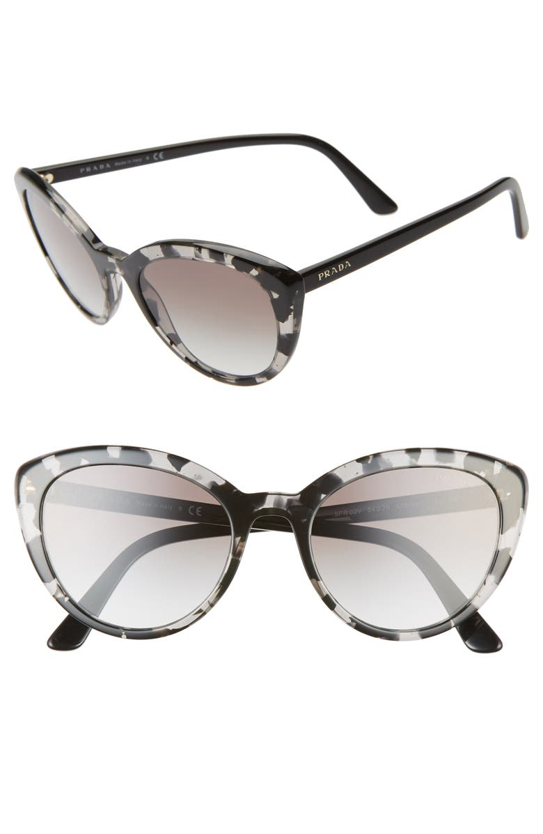 PRADA 54mm Cat Eye Sunglasses, Main, color, GREY HAVANA/ GREY GRADIENT