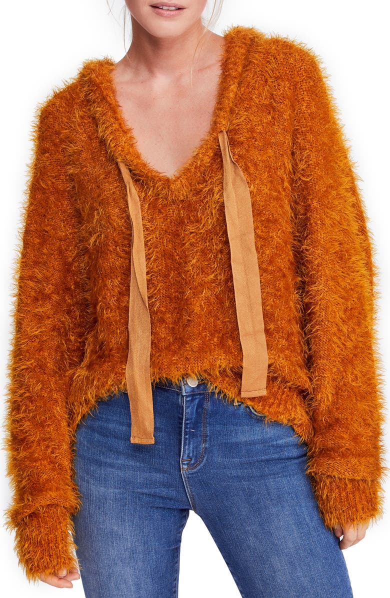 FREE PEOPLE Light As a Feather Hoodie, Main, color, COPPER