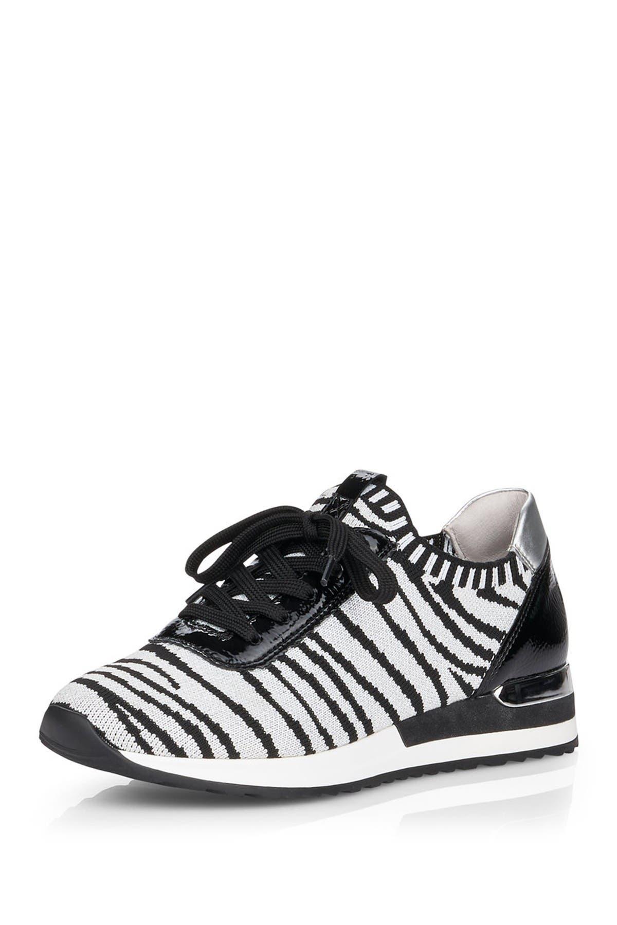 Image of Remonte Elmira Animal Print Knit Sneaker