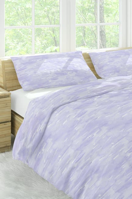 Image of Melange Home 300 Thread Count Sleepy Lilac Wash Full-Queen Duvet Set
