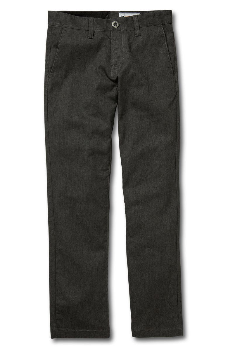 VOLCOM Modern Stretch Chinos, Main, color, CHARCOAL