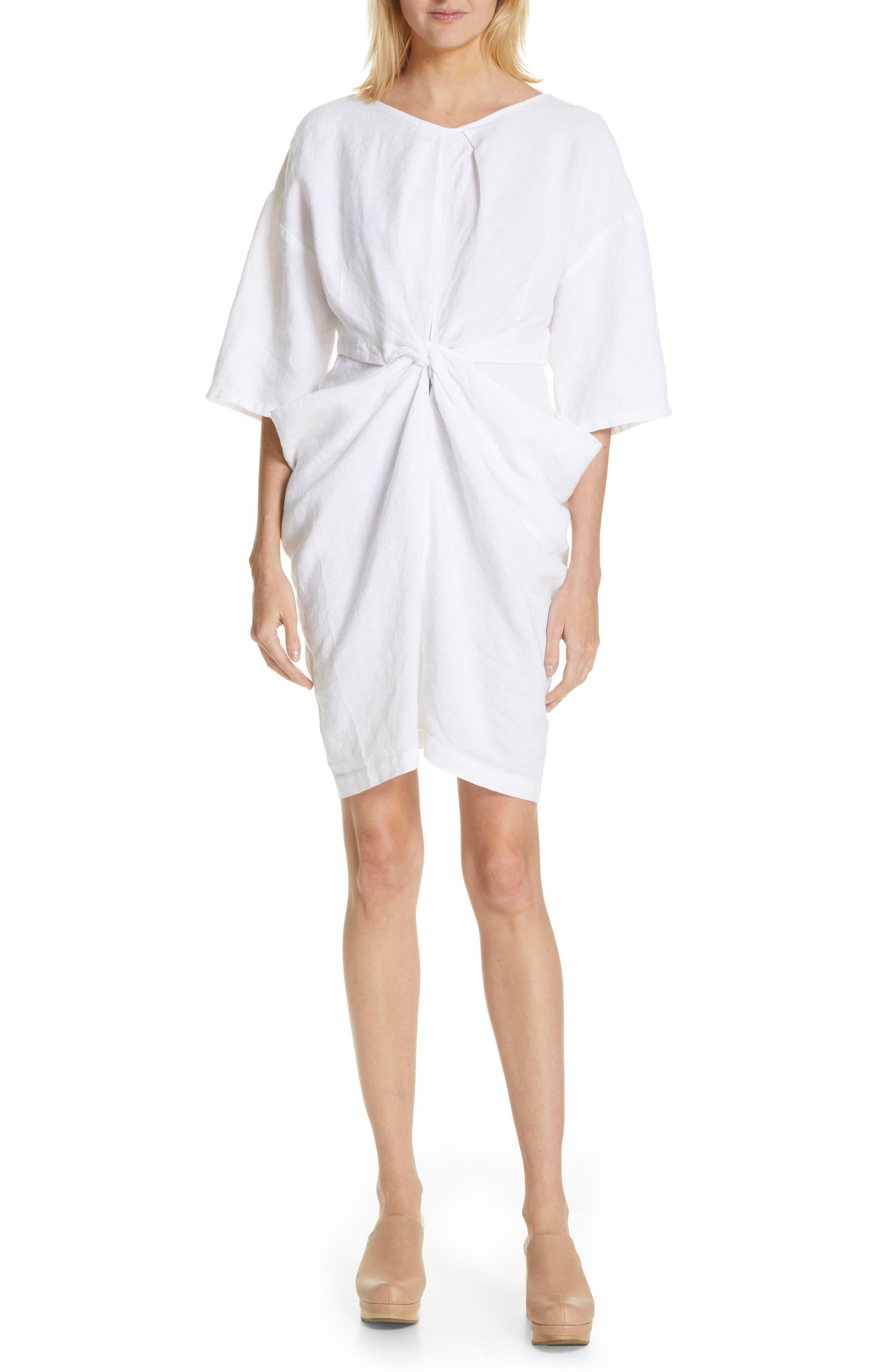 Rachel Comey Scope Linen Minidress, White