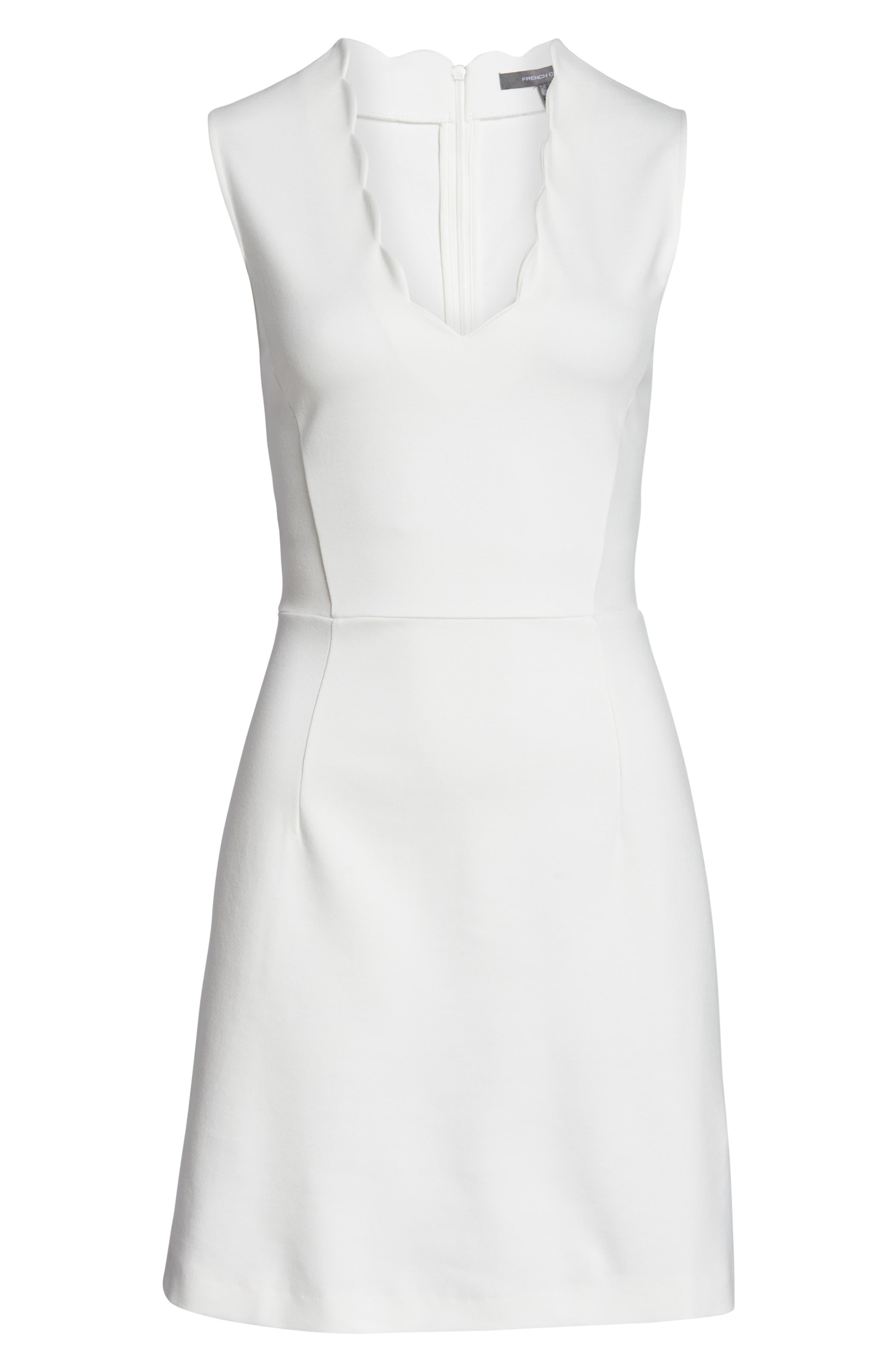 ,                             Lula Sundae Scalloped Sheath Dress,                             Alternate thumbnail 7, color,                             SUMMER WHITE