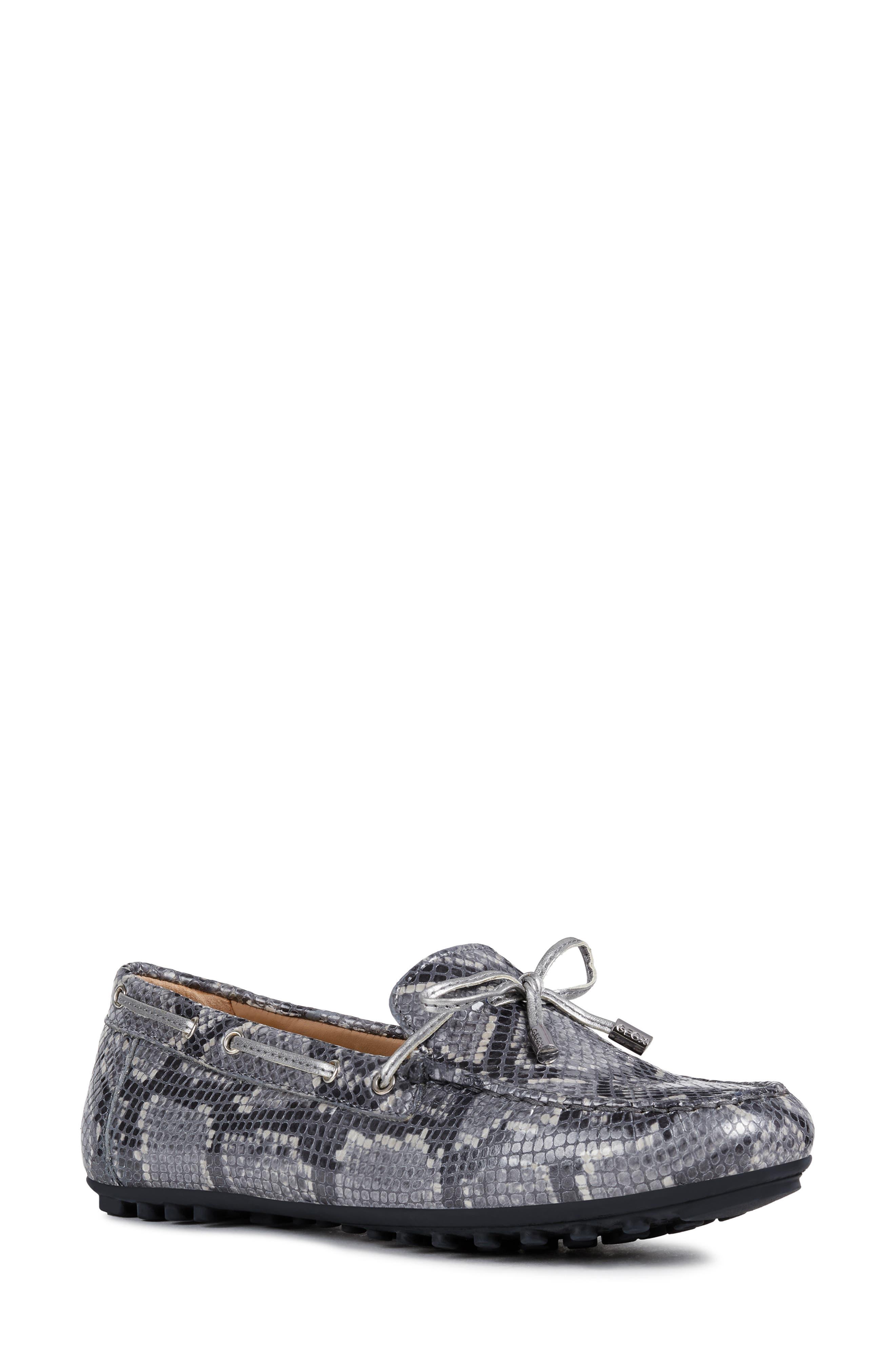 Geox Leelyan Leather Loafer, Grey