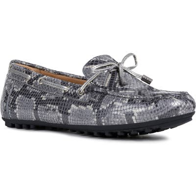 Geox Leelyan Leather Loafer, Grey
