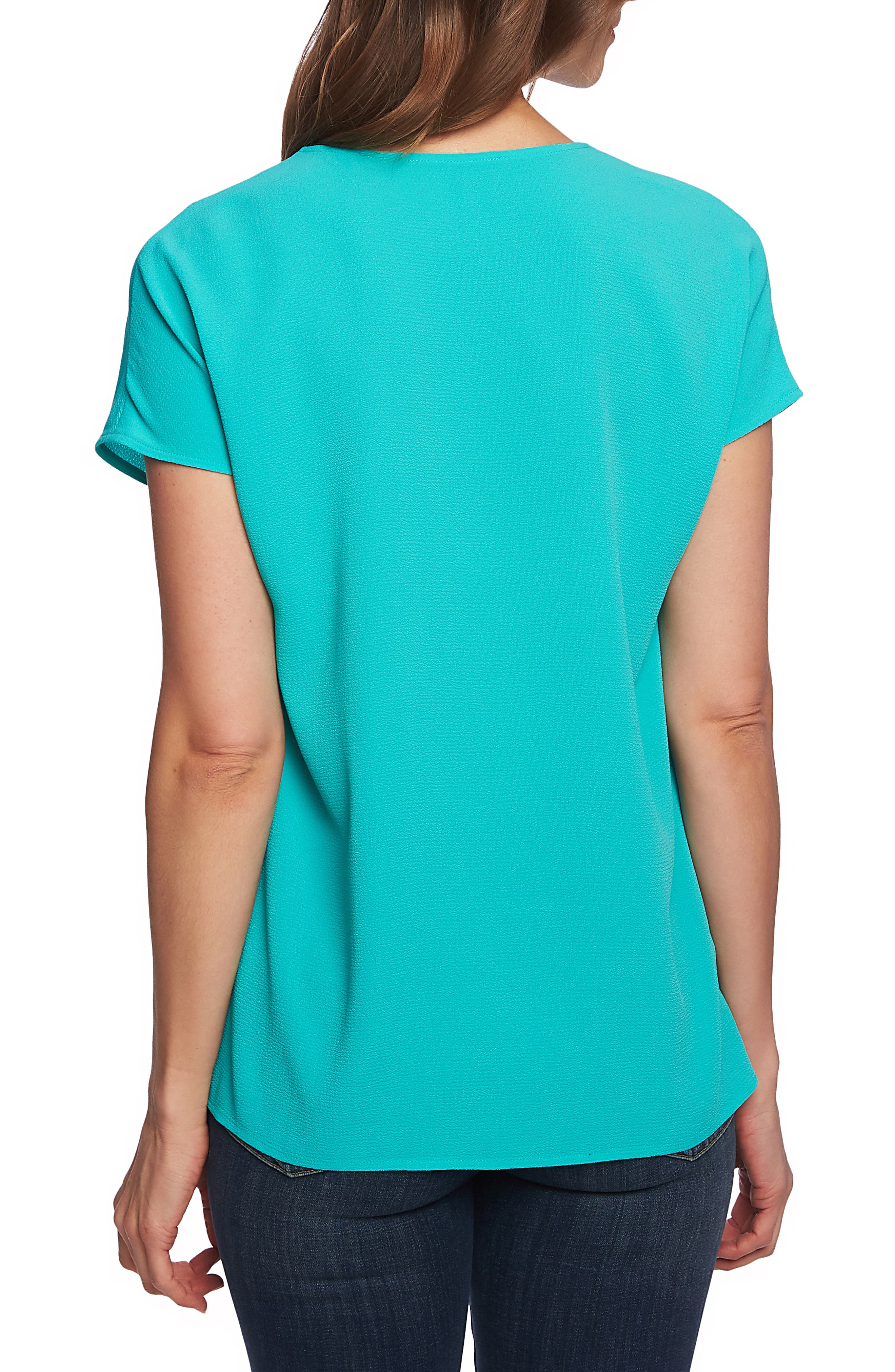 ,                             Invert Pleat Blouse,                             Alternate thumbnail 2, color,                             TIKA TEAL