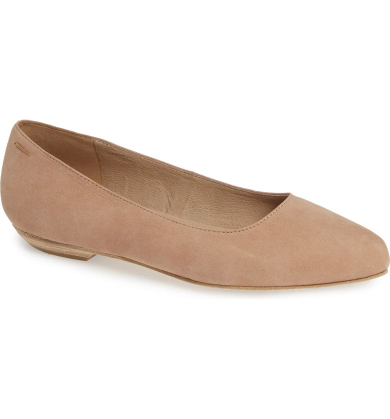EILEEN FISHER Jil Flat, Main, color, LATTE NUBUCK