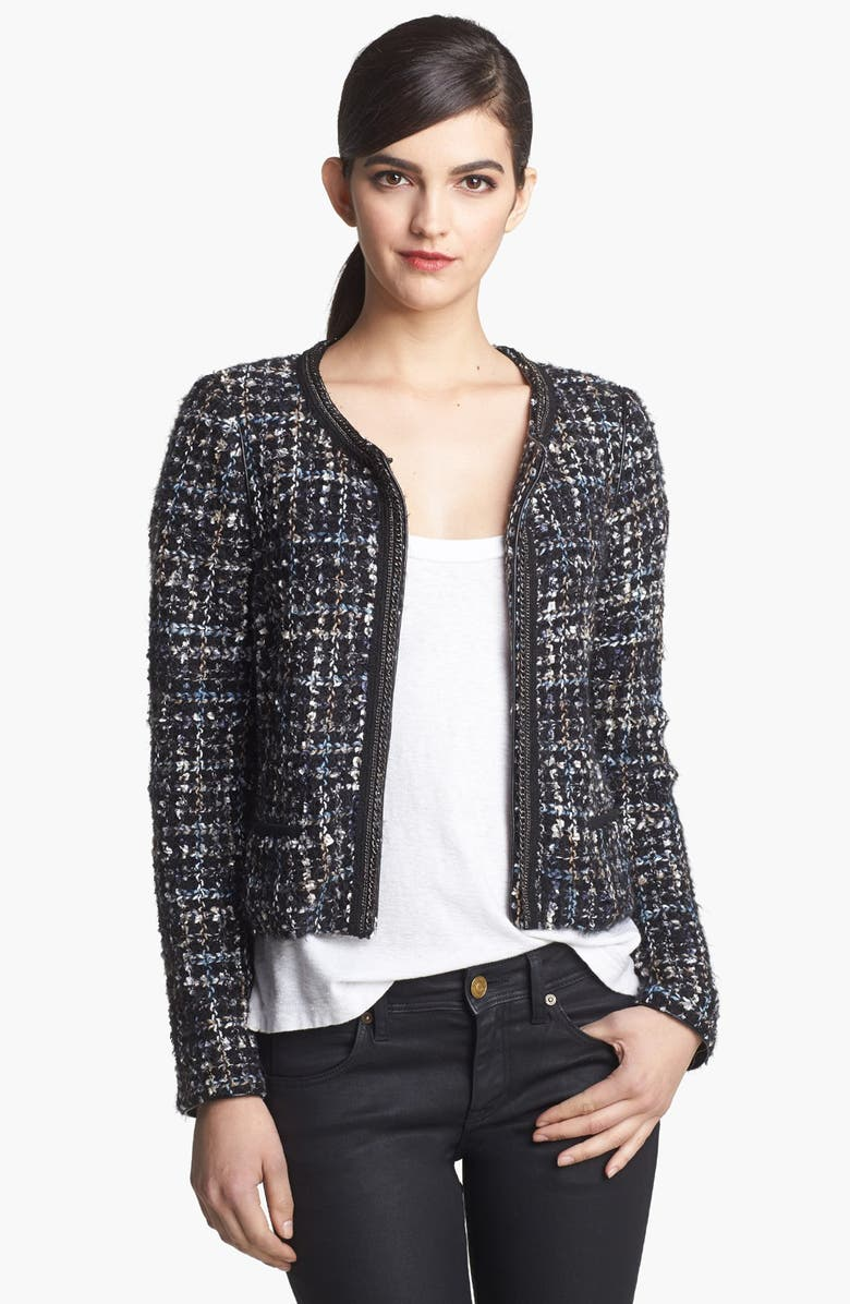 SEARCH FOR SANITY Tweed Jacket, Main, color, 001