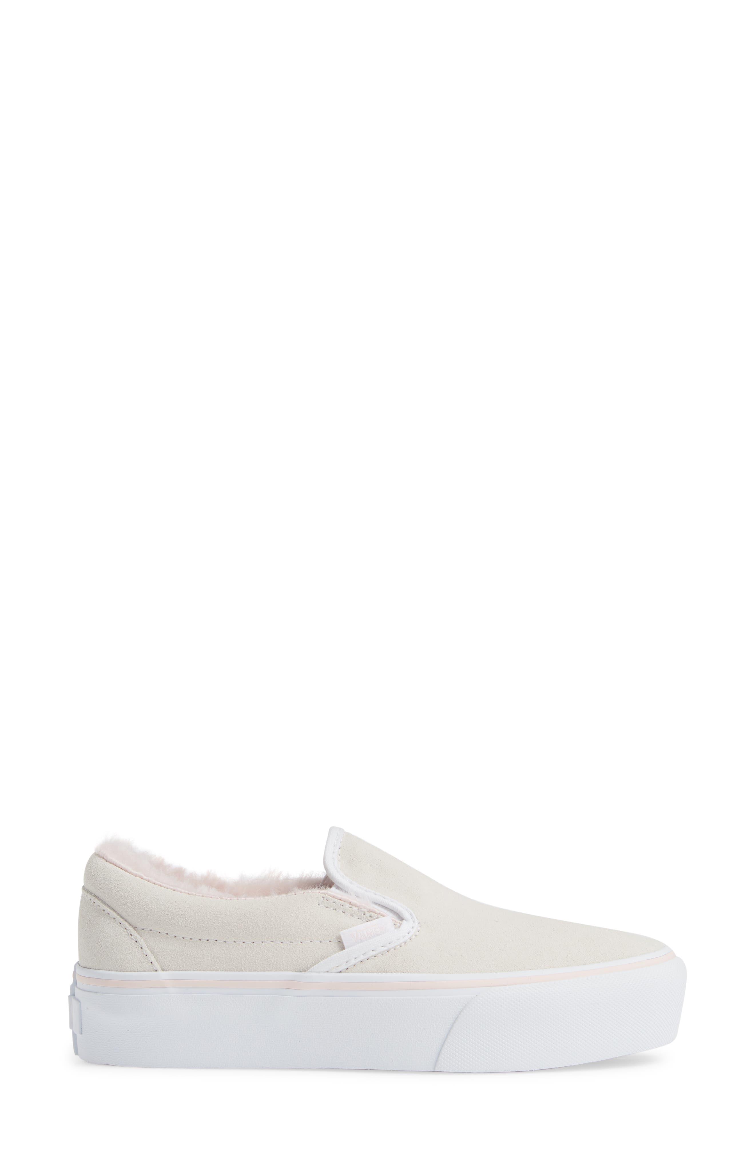 ,                             Classic Faux Fur Slip-On Platform Sneaker,                             Alternate thumbnail 9, color,                             900