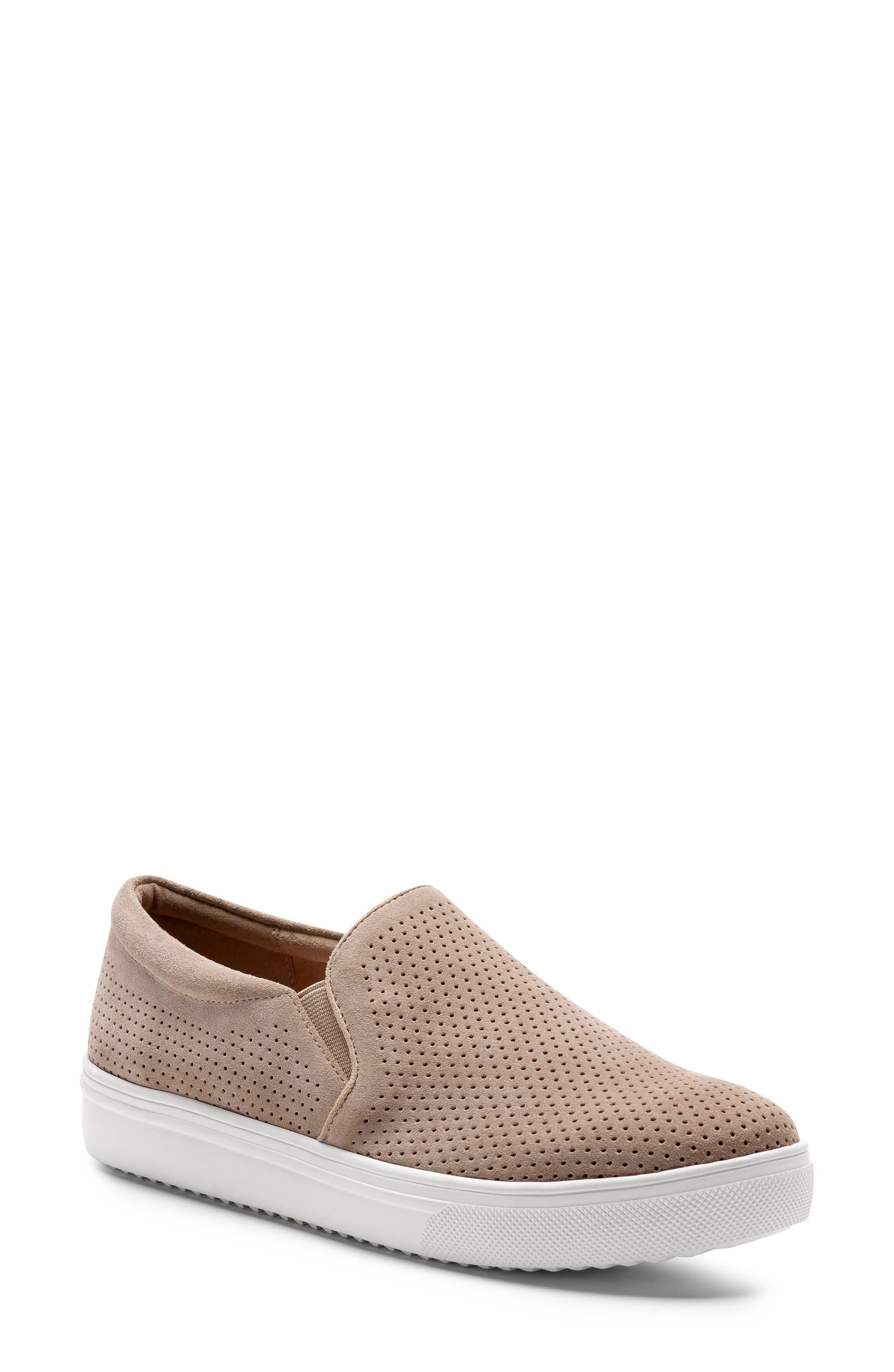 Blondo Gallert Perforated Waterproof Platform Sneaker- Beige