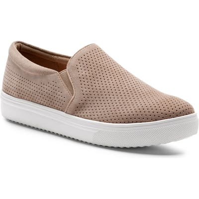 Blondo Gallert Perforated Waterproof Platform Sneaker- Beige