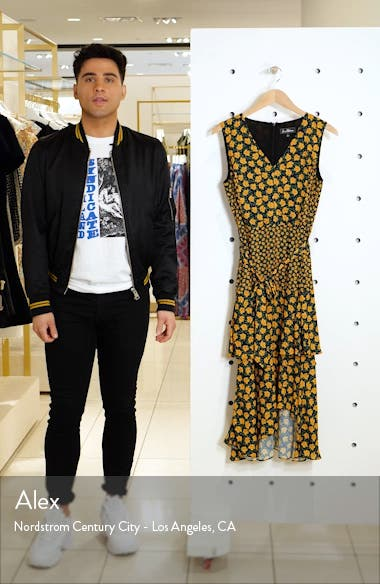 Bold Poppy Tiered Asymmetrical Midi Dress, sales video thumbnail